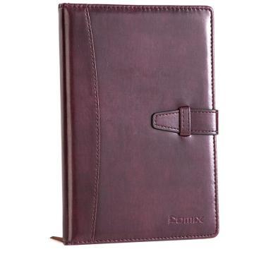 齐心 C5807 皮面笔记本18K 114页 红