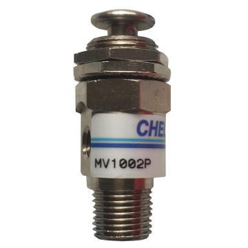 气立可CHELIC 手动阀,接头型,2口压动按键型,MV-100-2P