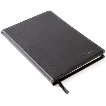 齐心 皮面笔记本25K,C5812 82页 黑 单位:本