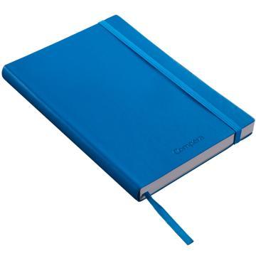 齐心 Compera皮面笔记本,A6,C8003 146页 蓝 单位:本