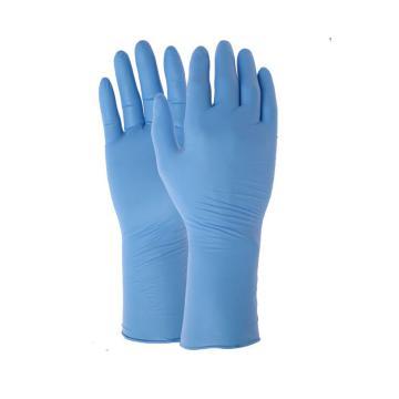 PREISING 蓝色1000级 丁腈指麻卷边手套,XL,100只/袋