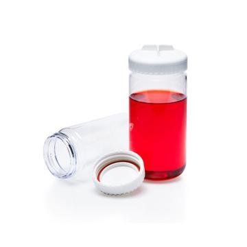 离心瓶(带密封盖),聚碳酸酯,聚丙烯螺旋盖,硅胶垫圈,250ml容量