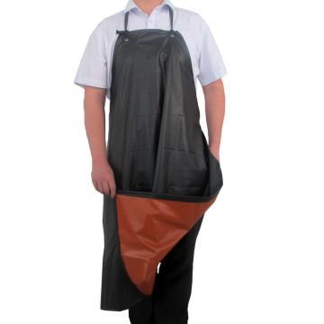 PVC防化围裙,70cm(底宽) x100cm, 黑色