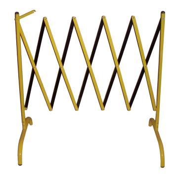 伸缩隔离栏 全铁材质 高1050mm 长度范围150-2500mm B2S,黄/黑