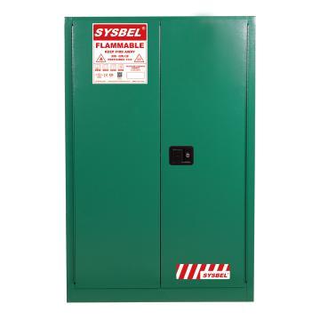 SYSBEL/西斯贝尔 杀虫剂安全储存柜,FM认证,45加仑/170升,绿色/手动,不含接地线, WA810450G
