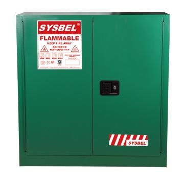SYSBEL/西斯贝尔 杀虫剂安全储存柜,FM认证,30加仑/114升,绿色/手动,不含接地线, WA810300G