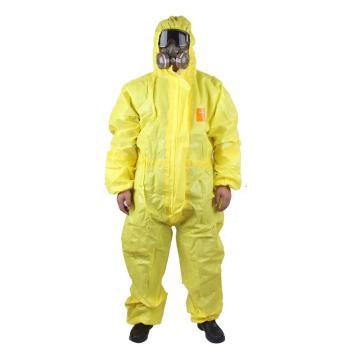 微护佳 欧标3级防护服,YE30-W-99-111-05-XL,MC3000黄色双袖连体防化服