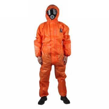 微护佳 欧标3级防护服,OR50-T-99-111-03-M,MC5000橙色双袖连体防化服