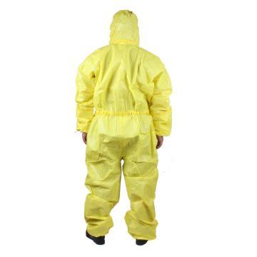 微护佳黄色双袖连体防化服,MC3000,5件/包,XXL
