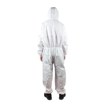 微护佳白色标准型有帽连体防护服,MG2000,10件/包,M