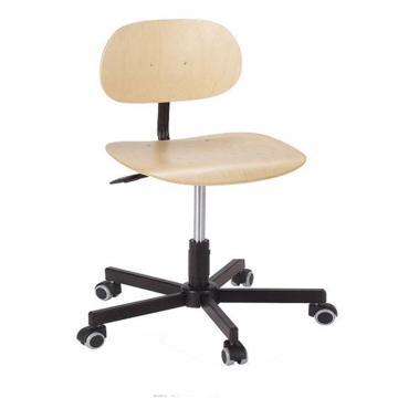 工作椅,MEY工作椅 榉木 高度调幅440-590mm 带刹车的硬地脚轮