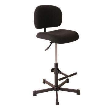 工作椅,MEY工作椅, 黑色布料 高度调幅580-840 mm 带脚踏AH1,不可旋转(散件不含安装)