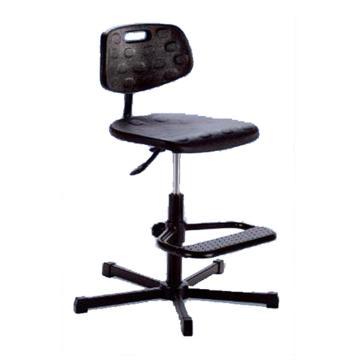 MEY工作椅,聚氨酯坐垫 高度调幅510-770mm 黑色(散件不含安装)