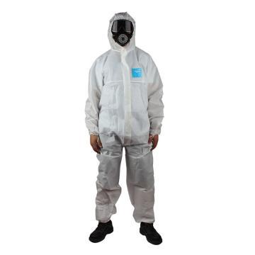 微护佳白色增强型有帽连体防护服,MG1500,10件/包,M
