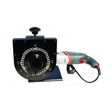 端面平口机,TSM-4500M ,外加紧/插座式电钻,蜗轮蜗杆驱动,适用于超厚壁管子加工