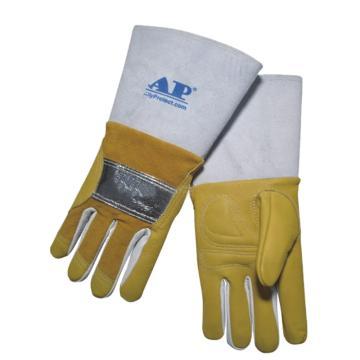 友盟 焊接手套,AP-0305-XL,反射铝抗震耐温牛青MIG手套
