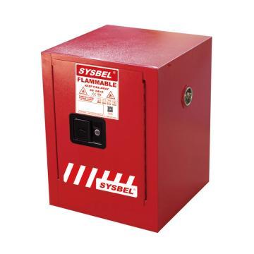 SYSBEL/西斯贝尔 可燃液体安全柜,CE认证,4加仑/15升,红色/手动,不含接地线,WA810040R