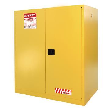 SYSBEL/西斯贝尔 易燃液体安全柜,油桶型,CE认证,115加仑/434升,黄色/手动,不含接地线,WA810115