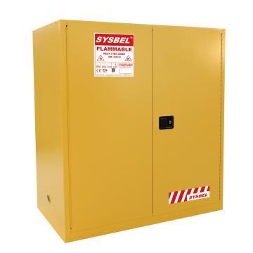 SYSBEL/西斯贝尔 易燃液体安全柜,油桶型,CE认证,110加仑/415升,黄色/手动,不含接地线,WA811100