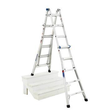 稳耐 铝合金伸缩式双侧人字梯(摩天梯),踏棍数:11~21,额定载荷(KG):136,工作高度(米):5.61,MTX-21CN