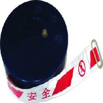 PVC盒式警戒带:宽5cm长50m,红白反光