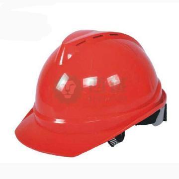 MSA 10172479 V-Gard ABS豪华型安全帽,红(超爱戴),正面印国电logo(国电定制款)同系列30顶起订