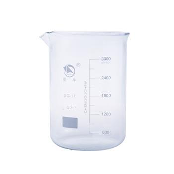 低形烧杯,3000ml,2个/盒