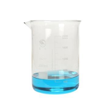低形烧杯,2000ml,2个/盒