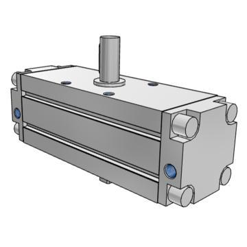 SMC 齿轮齿条式摆动气缸,缸径30mm,角度90°,接管M5x0.8,CRA1BW30-90Z