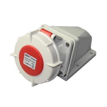 威浦TYP系列明装工业插座,5P 32A 400V IP67 红色,8824
