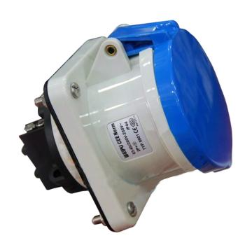 威浦TYP系列暗装直式工业插座,3P 63A 230V IP44 蓝色,5901