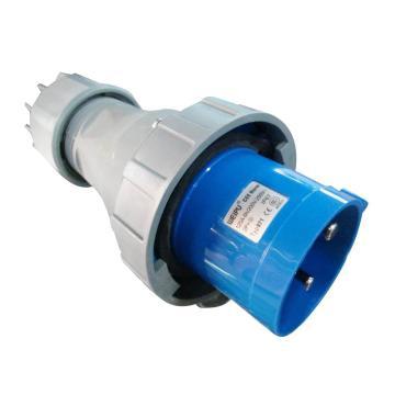 威浦TYP系列工业插头,3P 125A 230V IP67 蓝色,971