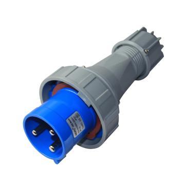 威浦TYP系列工业插头,3P 63A 230V IP67 蓝色,671