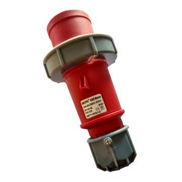 威浦TYP系列工业插头,5P 32A 400V IP67 红色,375