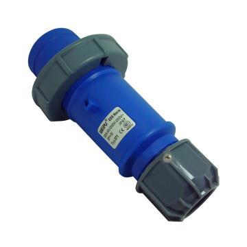 威浦TYP系列工业插头,3P 32A 230V IP67 蓝色,371