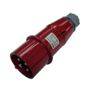 威浦TYP系列工业插头,4P 32A 400V IP44 红色,283