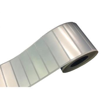 仿铝平面标签 40MM*12MM 银色 1000张/卷 适配璞趣Q10