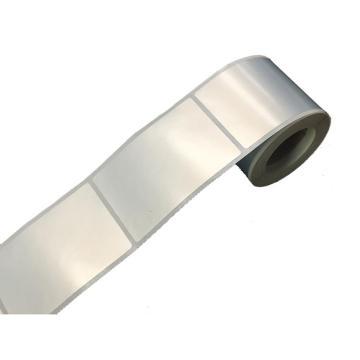 仿铝平面标签 40MM*60MM 银色 230张/卷 适配璞趣Q10