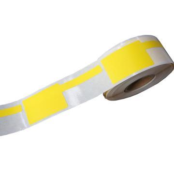 P型线缆标签 25MM*30MM+40MM尾签 黄色 200张/卷 适配璞趣Q10