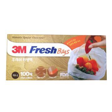 3M食品保鲜袋,小 透明,100个/盒,单位:盒