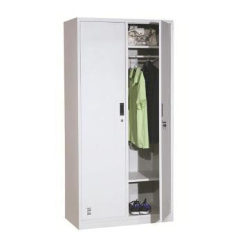 西域推荐 两门更衣柜,900宽*500深*1850高,灰白色,钢板厚度为0.8mm
