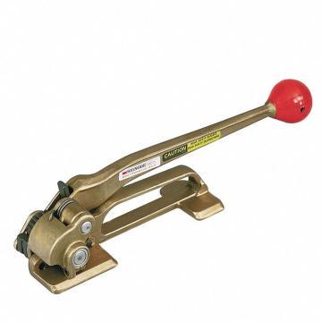 手动收带式钢带拉紧器,适合打包带宽度:16-19mm,适合钢带厚度:0.43--0.64mm