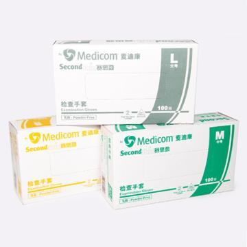PVC手套,无粉,中号(100只/盒,10盒/箱)