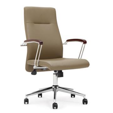办公椅,尺寸101*60*68 米黄牛皮(散件不含安装)