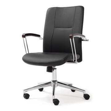 办公椅,尺寸92*60*67 黑牛皮(散件不含安装)