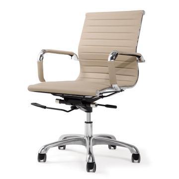 办公椅,尺寸87*56*63 米黄牛皮(散件不含安装)