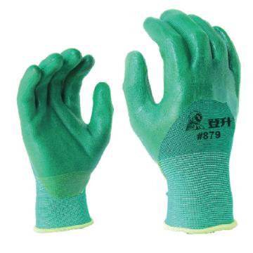 登升879 PVC浸胶手套