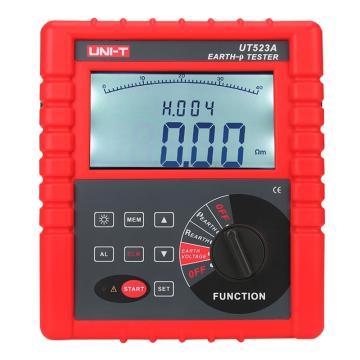 优利德/UNI-T 智能接地电阻测试仪,最高9000kΩ土壤电阻率,UT523A