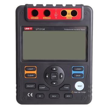 优利德/UNI-T UT513A高压绝缘电阻测试仪,最高耐压5KV,1000GΩ测试电阻