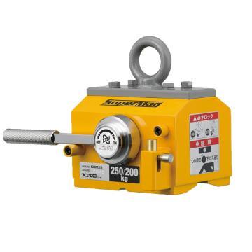 KITO磁铁吊 扁钢与圆钢起吊,最大工作载荷(kg):扁钢250,圆钢200(¢200),KRM25
